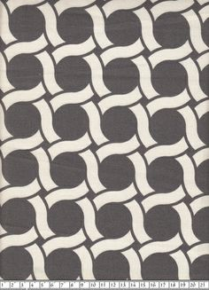 24 €/mBio Canvas: Circles grau von Himbeerfell auf DaWanda.com