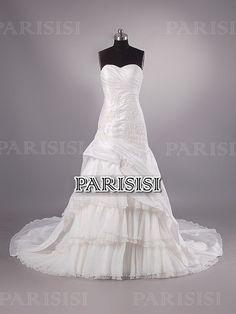 Ctura Caida Corazón Tren Capilla Blanco vestidos de novia
