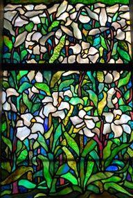 Tiffany window (easter lilies)