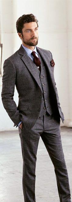 Wedding Ideas by Colour: Grey Wedding Suits - The bold tie | CHWV ...
