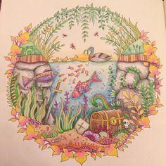 Johanna Basford secret garden colouring book - aquarium