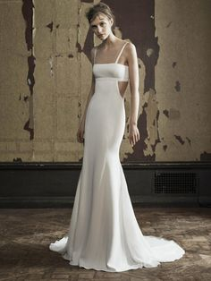 Vera Wang cut-out fit and flare wedding dress