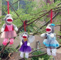 Our Epic Sock Monkey Christmas: ebay is for Sock Monkey Ornaments