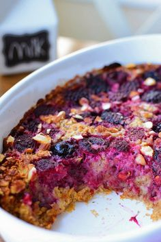 Baked Summer Fruit Oatmeal with Lemon Curd Summer Berries, Summer Fruit, Raspberry Syrup Recipes, Baked Oatmeal, Lemon Curd, Recipe Box, Baking, Food, Baked Oats