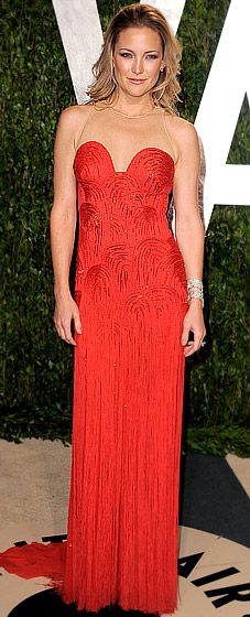 Kate Hudson in vintage Versace at the Vanity Fair Oscar party.