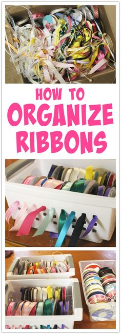 How to Organize Ribbons - great tip for cake decorators and crafters! Wedding Cake Roses, Wedding Cakes With Flowers, Ribbon Organization, Organization Ideas, Storage Ideas, Christmas Ribbon, Christmas Ideas, Chocolate Dipped Strawberries, Strawberry Dip