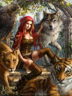 another-wanderer:Legend of the Cryptids - Beast Queen Felicitas