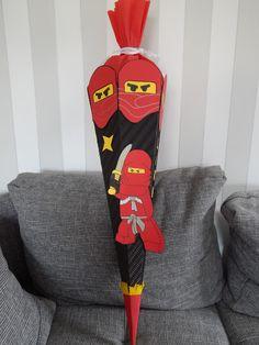 Familie und mehr : Projekt: Schultüte von Ninjago. wir haben für die Einschulung eine tolle Schultüte für Jungen gebastelt.