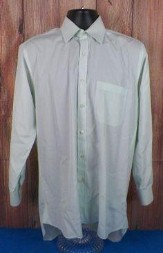 CHARLES TYRWHITT Light Green Long Sleeve Dress Shirt Mens 15.5 - 35 EUC #1 #CharlesTyrwhitt