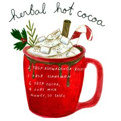Recipe Drawing, Hot Cocoa Recipe, Easy Magic, Herbal Magic, Easy Delicious Recipes, Kitchen Witch, Bullet Journal Ideas Pages, Medicinal Herbs, Tea Recipes