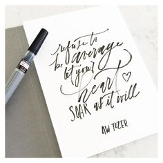 A.W. Tozer - We have each been gifted with our own unique talents... #brushlettering #brushcalligraphy #calligraphy #awtozer #quotes #qotd by julesjundotink