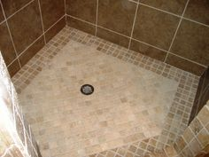 Best Ideas About Shower Tile Patterns On . Shower Tile Patterns, Bathroom Tile Designs, Bathroom Ideas, Shower Ideas, Shower Floor Tile, Bathroom Floor Tiles, Bathroom Flooring Options, Upstairs Bathrooms, Tile Installation