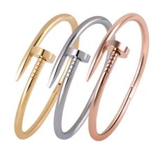 Nail Stainless Steel Bracelet