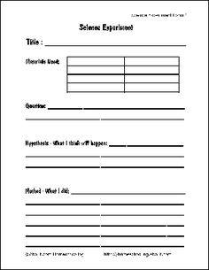 Science is a high-interest topic for curious children. Use these free science report forms for to help students record their scientific discoveries. Middle School Science, Elementary Science, Science Experiments Kids, Science Classroom, Science Fair, Teaching Science, Science For Kids, Science Projects, Science Ideas