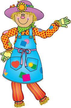 printable scarecrow clip art dearie dolls digi stamps free rh pinterest com scarecrow clipart free