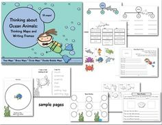 This thinking-maps unit about ocean animals is the catch of the day! Just dive in and you'll find a circle map, brace map and tree map for each of ...