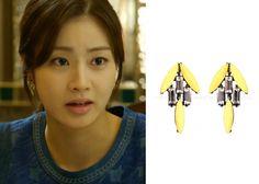 """Kang So Ra in """"Doctor Stranger"""" Episode 13.  Mzuu De Fleur E4 Earrings #Kdrama #DoctorStranger #KangSoRa #강소라"""