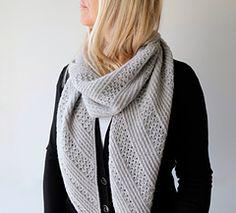 Ravelry: Saltum scarf knitting pattern by Gretha Mensen. For sport weight yarn. Love the texture!