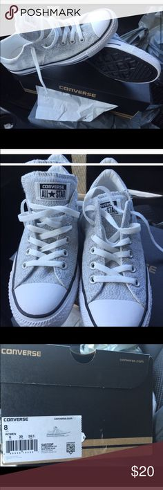 Converse only worn 2 times Still new Black & White Converse Shoes Sneakers