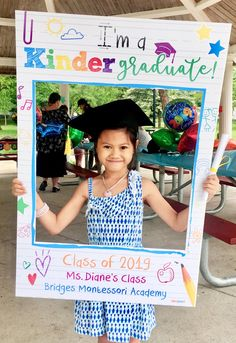 Printed and Shipped Kindergarten and Preschool Graduation Theme Photo Booth. Coroplast Photo Booth.