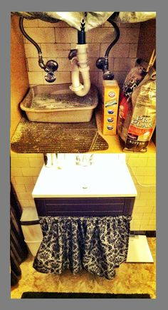 Concealing the cat litter box...    ...I must say, I'm a genius