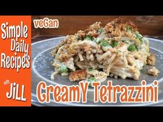 """I've been working on a lazier version of my Vegan Tetrazzini. I should start calling this channel """"Lazy Daily Recipes."""" I baked up another vegan tetrazzini last year, I called it Creamy Soy Curls Tetrazzini. Remember? Well, anyhoo.Here's the recipe as it stands today. I'll probably change again before it goes into my next cookbook.Vegan Tetrazzini RevisitedSEASONED BREAD CRUMBS TOPPING4 slices whole wheat bread, torn into pieces2 teaspoon dried parsley1 teaspoon onion granules2 teaspoons…"""