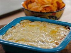 The Pioneer Woman's Hot Corn Green Chili Dip. This is a perfect appetizer or snack to feed a crowd. And EASY!
