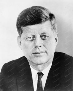 President John F Kennedy 1961 Portrait 8x10 Reprint Of Old Photo
