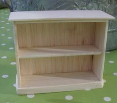 How to make 1:12 scale bookcase tutuorial