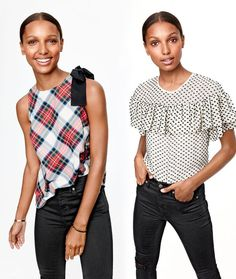 "J.Crew women's ready-to-party tops or the gift of answering the ""What should I wear tonight?"" question."
