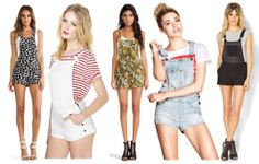 Printed shorteralls is a cool, modern way to wear overalls.