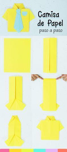 Camisa de papel: idea para el día del padre | Camisas de papel ...