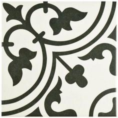 Merola Tile Arte White 9-1/2 in. x 9-1/2 in. Porcelain Floor and Wall Tile (10.76 sq. ft. / case)