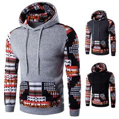 Men's Clothing Brand 2018 Hoodie Stitching Leopard Hoodies Men Fashion Tracksuit Male Sweatshirt Hoody Mens Purpose Tour Durable Modeling
