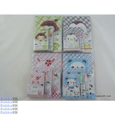 Kawaii Notebooks - Sweet Bear Design - PVC Jacket Cover (12 books x 3 set - 4 Assorted Designs) Size: Big/Medium/Small Novelty Rubbers Erasers Kawaii Stationery Wholesales