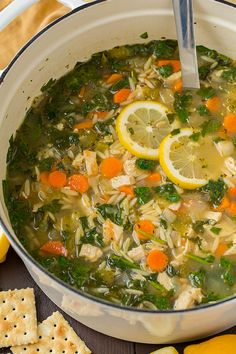 Lemon Chicken and Spinach Orzo Soup - we absolutely LOVED this soup! Definitely adding it to our dinner rotation. Hearty, healthy and comforting.