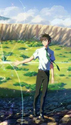 12 - Perfil Couple Blackhair Boy Kimi no na Wa Your Name Taki Akai ito Best Couple Wallpaper, Your Name Wallpaper, Wallpaper Desktop, Girl Wallpaper, Disney Wallpaper, Wallpaper Quotes, Wallpaper Backgrounds, Anime Love, Anime Guys