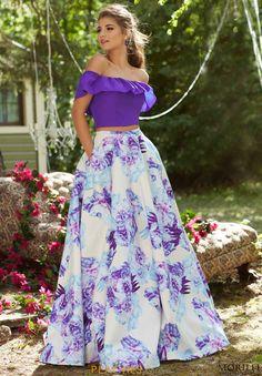 Mori Lee A Line Print Dress 99045