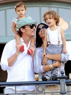 Matthew McConaughey, Camilia and kids...