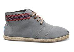 Grey Alarco Women's Desert Boots TOMS