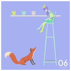 """""""She who feared she would not succeed, sat still"""" #QuinnsQuips #Fox #Girl #Clock"""