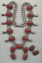 1960s Imitation Red Turquoise Set Signed Goldette-Impressive Set