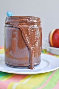 Dark Chocolate Macaroon Toasted Almond Butter I howsweeteats.com