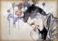 MoP_Smile_04, Media: Watercolor on paper, Size: A4 (21 x 30 cm) by Miro Zgabaj https://www.facebook.com/pages/Miroslav-Zgabaj-Drawing-Painting/114161501988357?ref=aymt_homepage_panel
