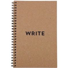 BRIKA Write Notebook Brown 999990030190 (80 PLN) ❤ liked on Polyvore featuring home, home decor, stationery, fillers, items and stationary