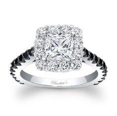 Princess Cut Diamond Barkev's Engagement Ring in 14KT White Gold with Black Diamonds 7939LBKW Barkev's http://www.amazon.com/dp/B00INBOMHA/ref=cm_sw_r_pi_dp_OOJhub19SGS7H