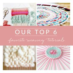 Looms and textile art are super popular right now and we're rounding up some of the best tutorials to help you get started!