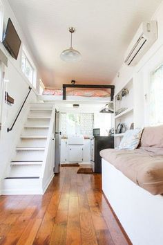 Amazing loft stair for tiny house ideas (43)