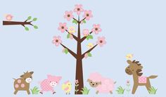 Farm Animal Wall Decals-Kids farm animal wall decal stickers, childrens wall decals stickers, nursery room decor, Bebe Diva,