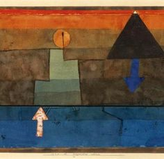 Klee, Paul (1879-1940) - 1924-25 Contrasts in the Evening - Blue and Orange
